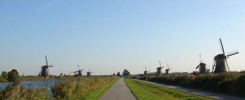 Windmühlen auf dem Kinderdijk